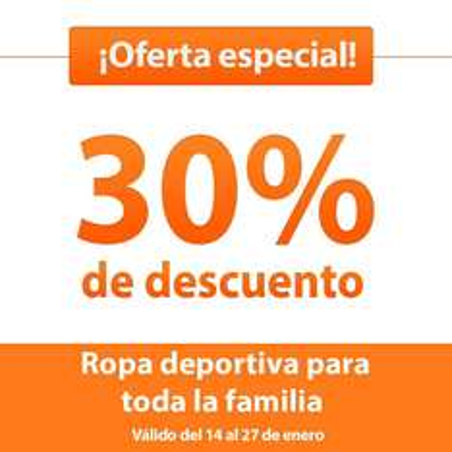 Chedraui: ofertas especiales al 27 de Enero. 30% de descuento en ropa deportiva p/toda la familia y màs