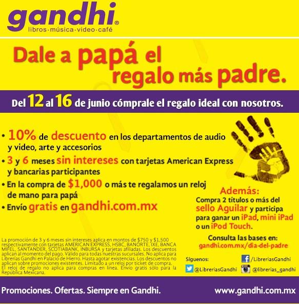 Promociones del día del padre en Gandhi