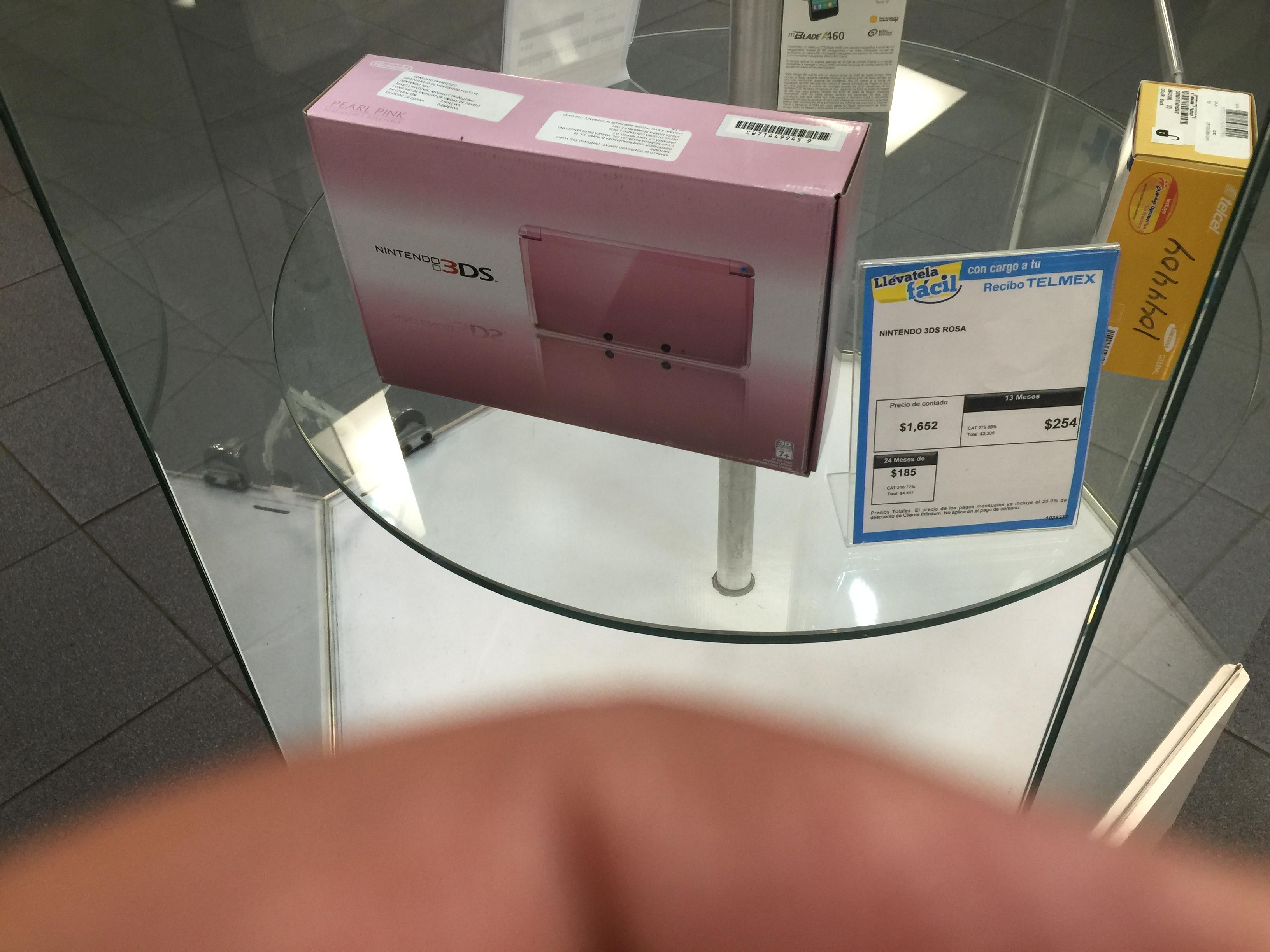 Telmex: consola nintendo 3ds rosa a $1,652