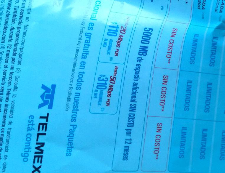 Telmex: Infinitum más megabytes extras desde $110