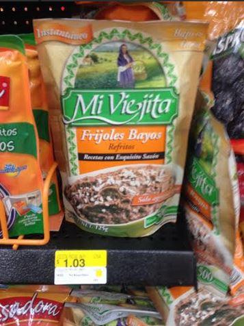 Walmart: frijoles bayos Mi Viejita $1.03 y martes de frescura agosto 5