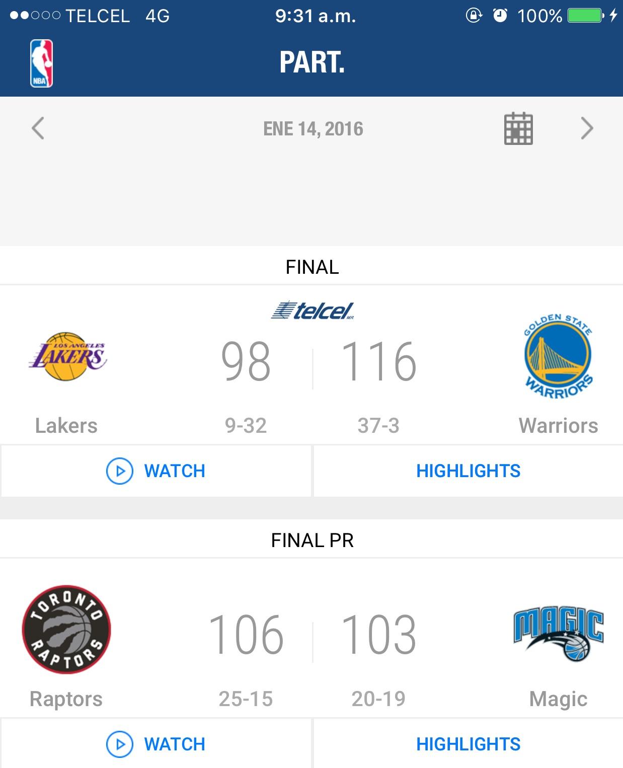 Telcel: Transmisión de partidos selectos de NBA gratis para usuarios (App NBA)
