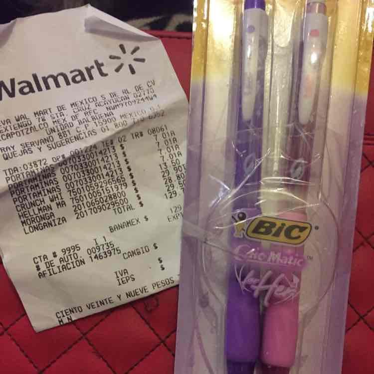 Walmart: Lapiceros bic en promoción. 2 x $7.01
