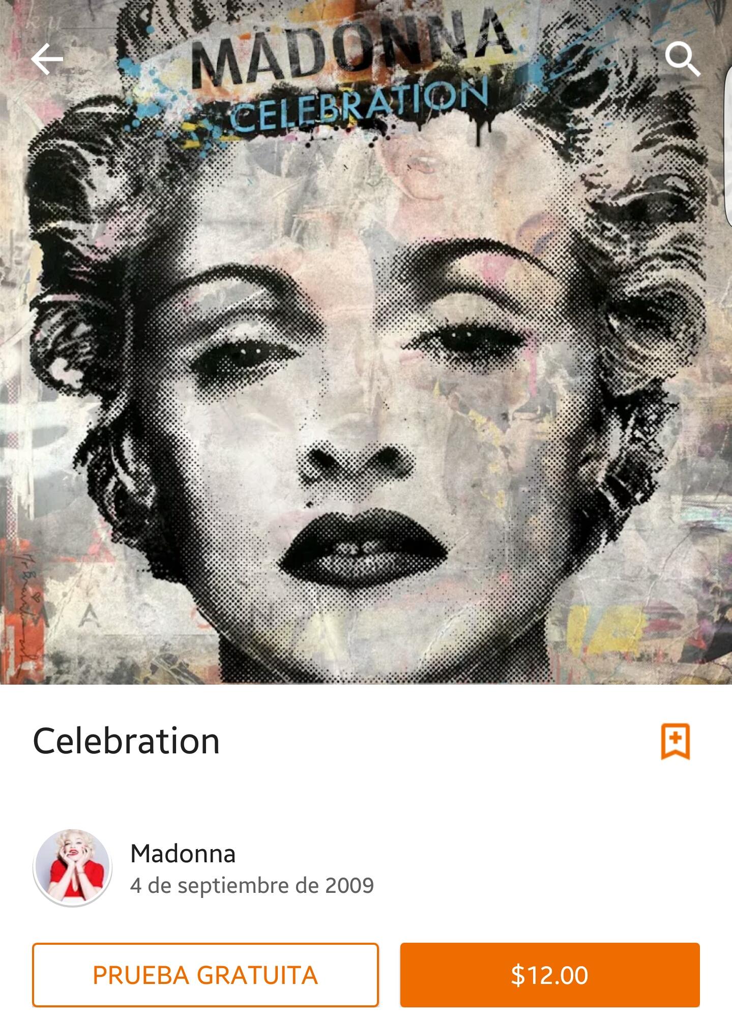Google Play: Disco Celebration de Madonna en 12 pesos