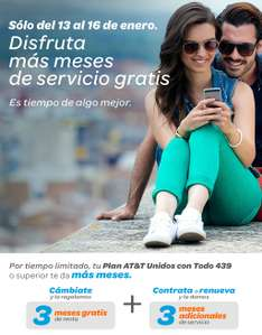 AT&T (Iusacell) 3 Meses Gratis + 3 adicionales en portabilidad. Vence Hoy.