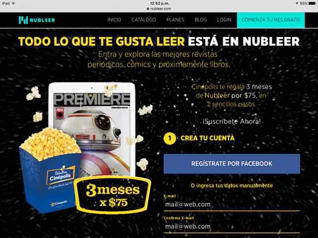 Nubleer: 3 meses por $75, lee cómics, revistas, periódicos Ilimitados