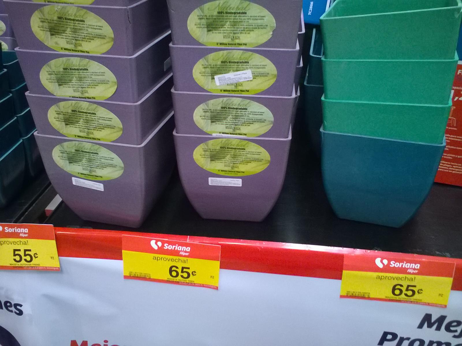 Soriana Villahermosa: macetas y articulos de jardineria menos de $1 peso