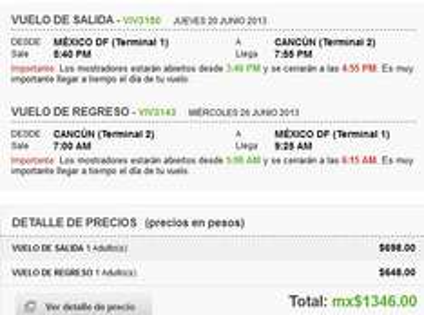 Vivaaerobus: vuelo redondo del DF a Cancún $1,348