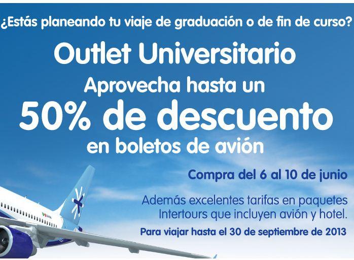 Outlet Interjet: $1,529 redondo del DF a Acapulco, $1,756 de GDL a Los Cabos y +