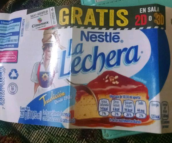 Entrada gratis en Cinemex comprando La Lechera en Sam's Club