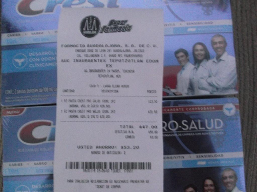 Farmacia Guadalajara Crema dental Crest ProSalud Pack 2pzas 23.50