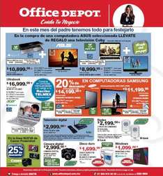 Folleto Office Depot junio 2013: pantalla LED gratis comprando computadora y más