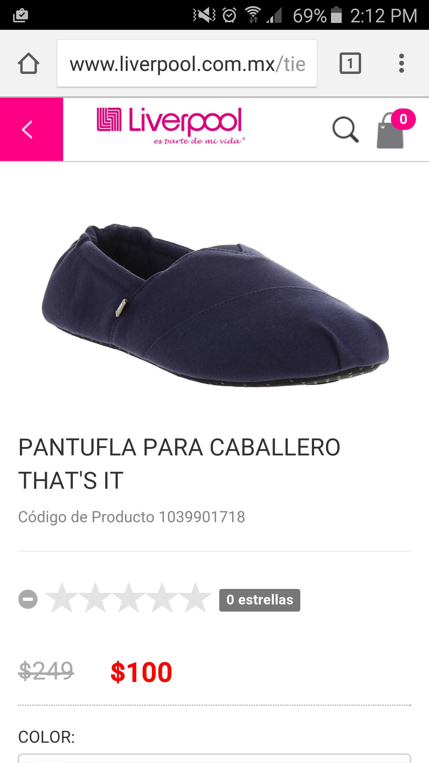 Liverpool: Pantuflas de caballero liverpool online