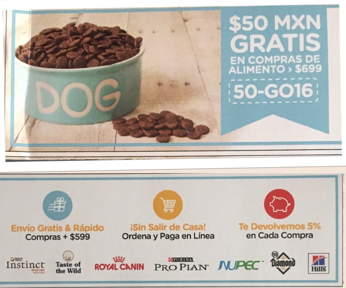 pet n'GO: cupón de $50 de descuento para compras de alimento mayores a $699