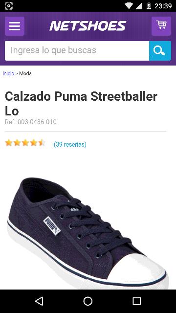 Netshoes: tenis Puma streetballer Lo a $479