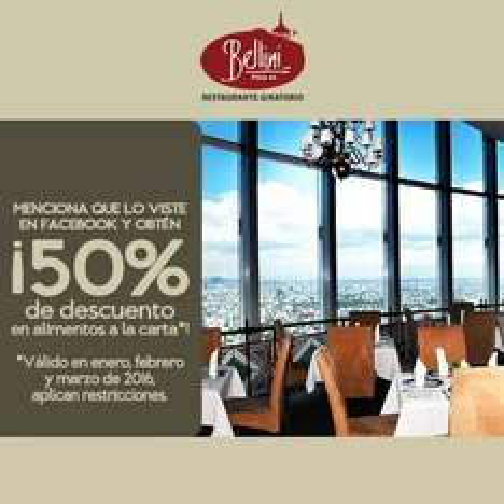 50% Restaurante Giratorio WTC Bellini....en alimentos a la carta