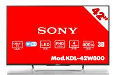"HEB: Smart TV 42"" 3D Sony kdl42w800 y otras TV's en oferta"