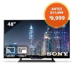 "Walmart: Pantalla Led Sony 48"" Full HD Smart TV"