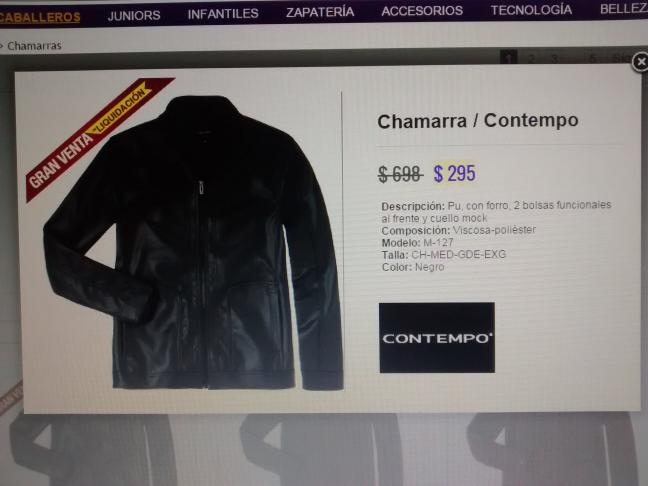 Suburbia: Chamarra Contempo $295