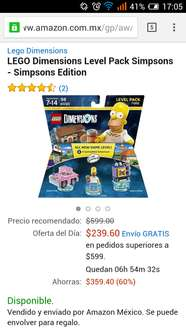 Packs Lego Dimensions en oferta en Amazon México