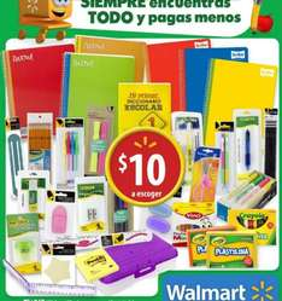 Folleto de ofertas en Walmart del 4 al 14 de agosto