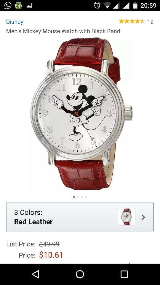 Amazon USA: Reloj Disney a $10.61 USD