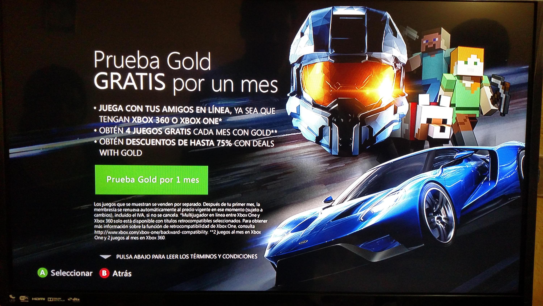 Xbox: Xbox Live Gold gratis por un mes