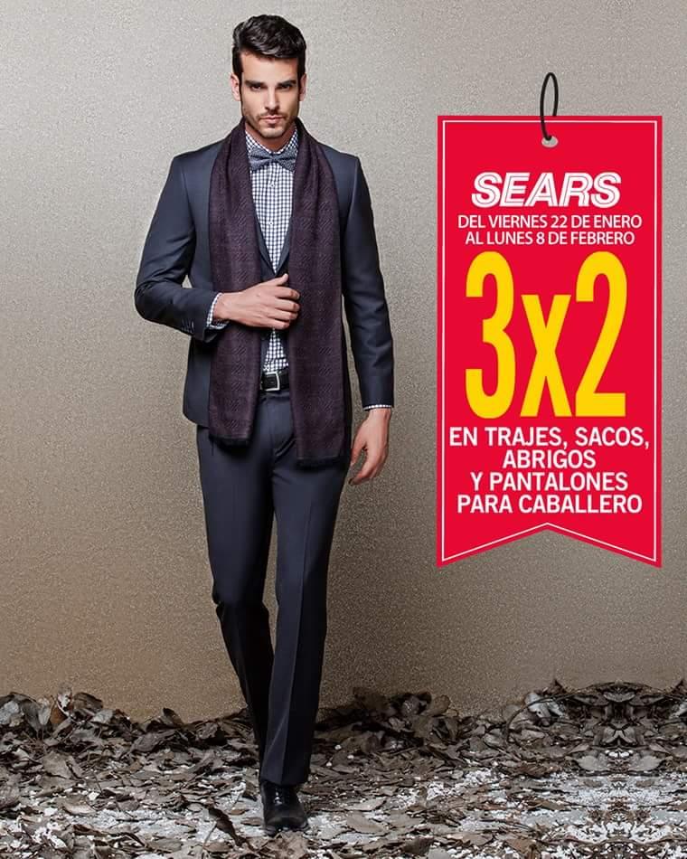 Sears: 3x2 en Trajes, Sacos, Abrigos y Pantalones para caballero