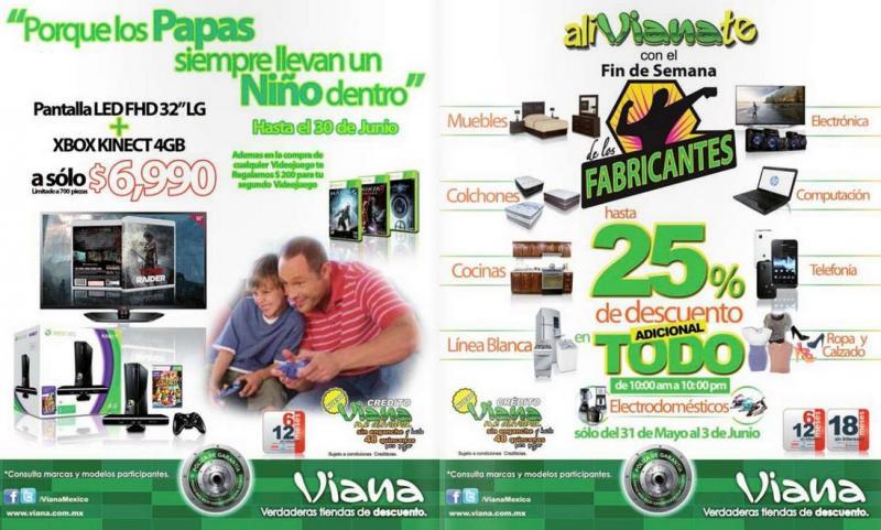 """Viana: pantalla LED LG de 32"""" + Xbox con Kinect $6,990 y más"""