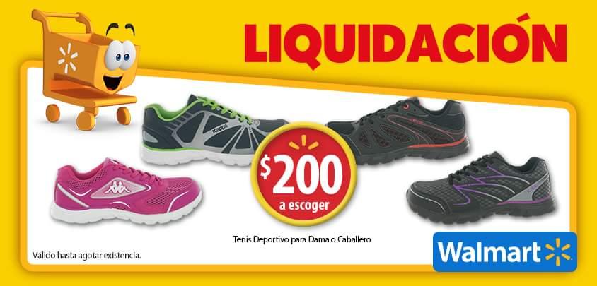 Walmart: Tenis deportivo  para Dama o Caballero a precio de liquidación