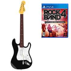 Amazon: Rock Band 4 Guitar bundle para PS4