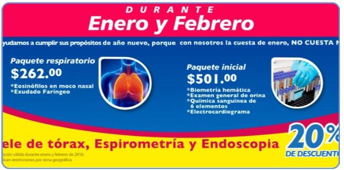 Promociones estudios clinicos en Farmacias similares ENERO 2016