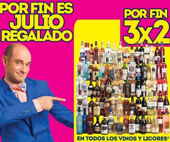 Ofertas de Julio Regalado en La Comer: 3x2 en vinos y licores