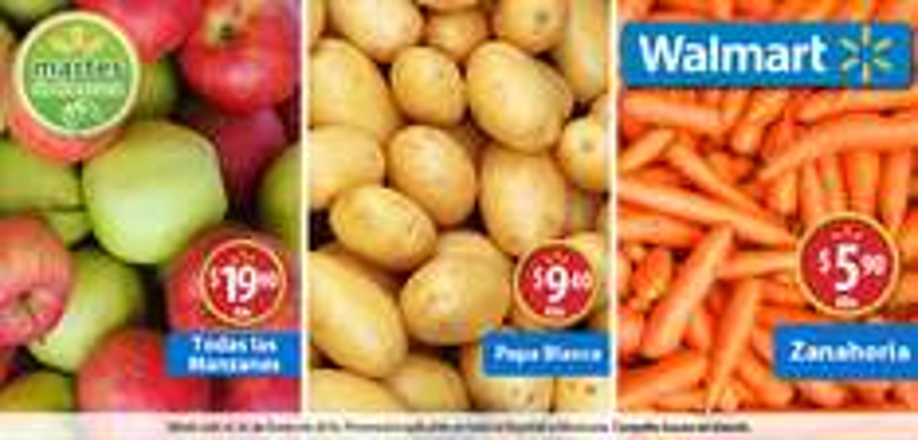 Martes de frescura en Walmart enero 26: Papa Blanca a $9.40 el kilo y más