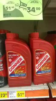 Comercial Mexicana: Aceite Gonher 25w-50 a $34