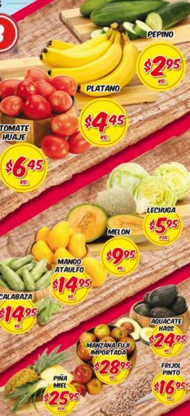 Frutas y verduras HEB: pepino $2.95, plátano $4.45 y más