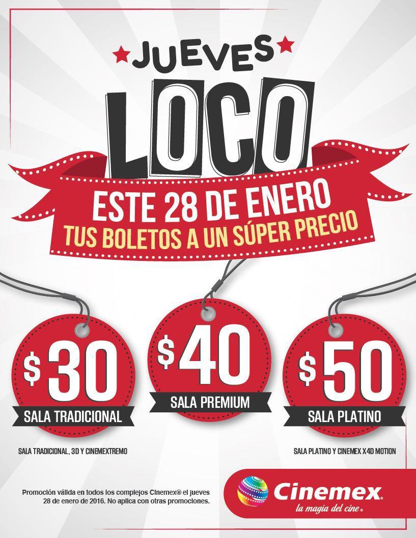 Jueves Loco en Cinemex: boletos 2D, 3D a $30 y más