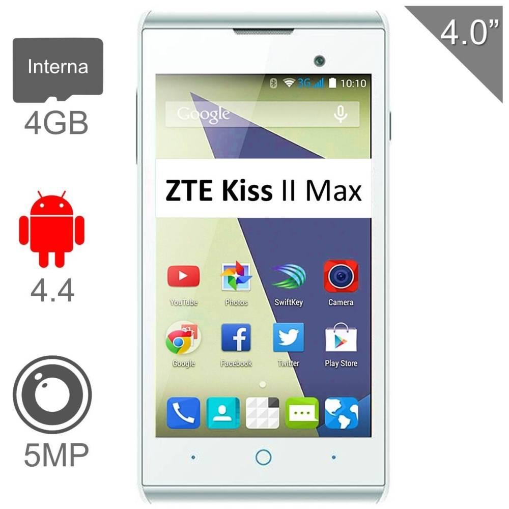 Walmart Online: Smartphone ZTE Kiss II Max Blanco Desbloqueado 749.00 o menos + Envio