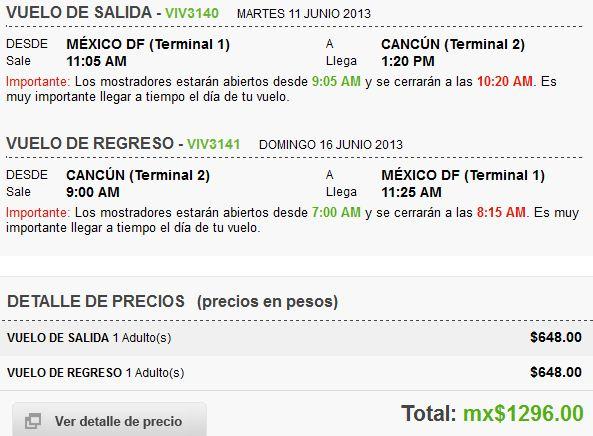 Vivaaerobus: vuelos DF – Cancún desde $648 sencillo