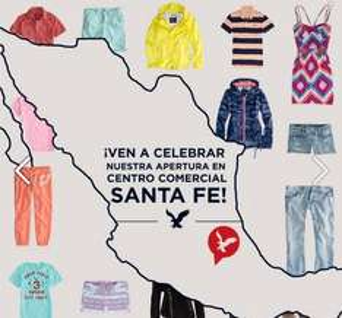 Promoción por inauguración American Eagle Santa Fe