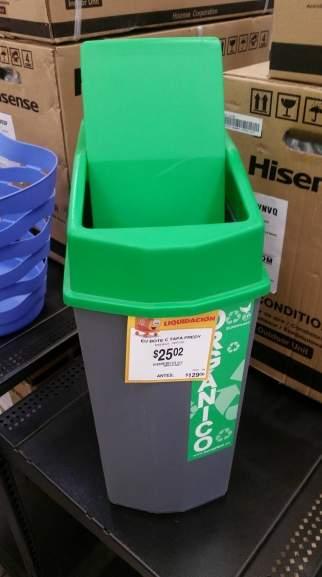 Walmart: Cesto de basura $25.01 y otras liquidaciones