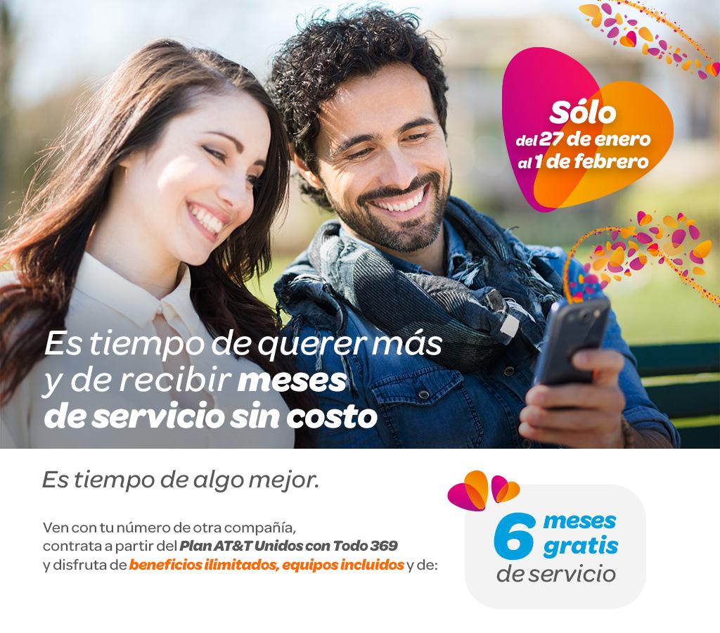 AT&T: 6 meses gratis en plan Unidos Con Todos 369.al cambiar de compañia