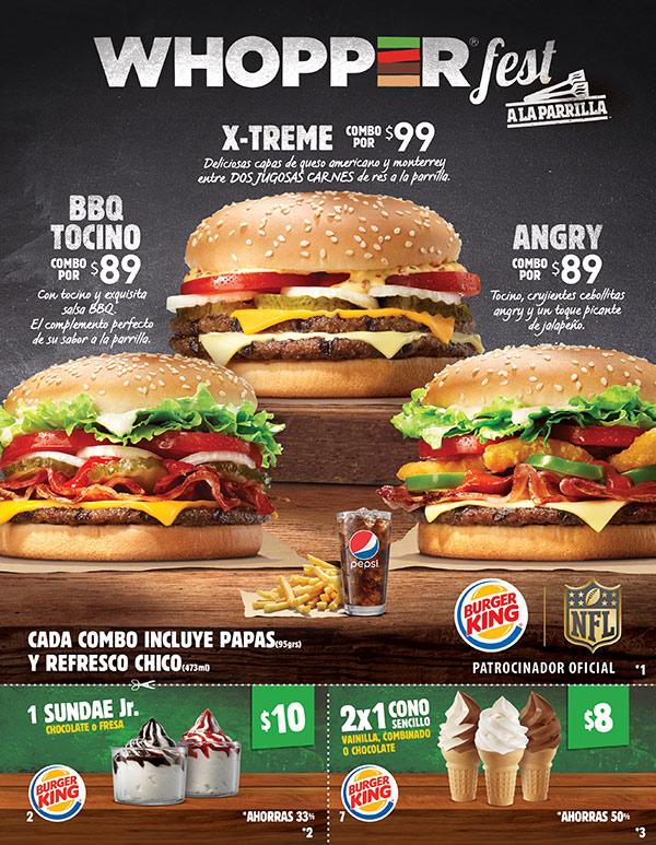 Burger King: cono sencillo de chocolate, vainilla o combinado a 2x$8 y más