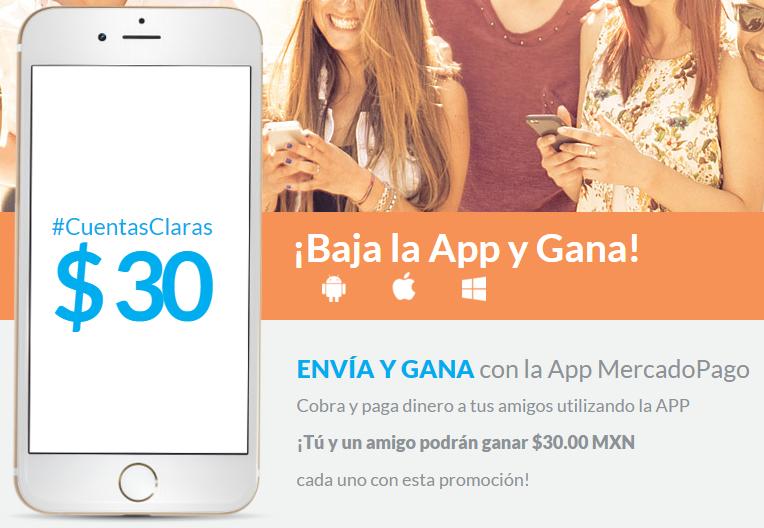 MercadoPago: Solicita o envia $100 mediante la app y gana $30