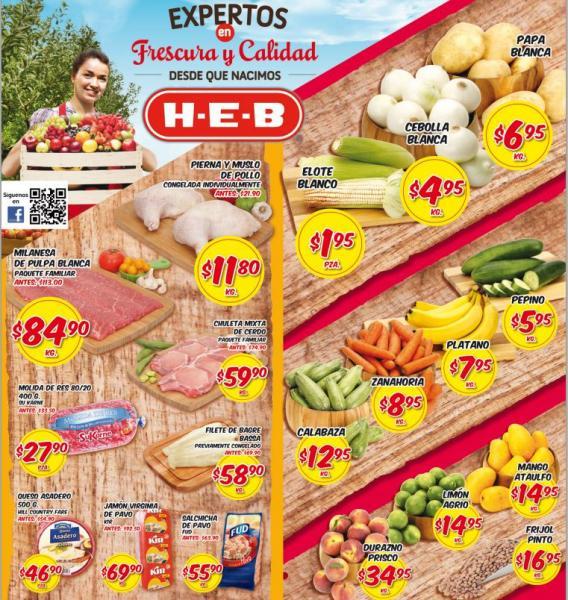 Frutas y verduras HEB del 21 al 23 de mayo y 2 por 1 y medio en juegos de mesa