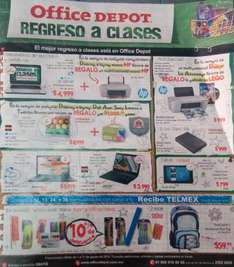 Folleto de ofertas en Office Depot agosto 2014