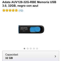 Amazon: Usb Adata 32gb 3.0