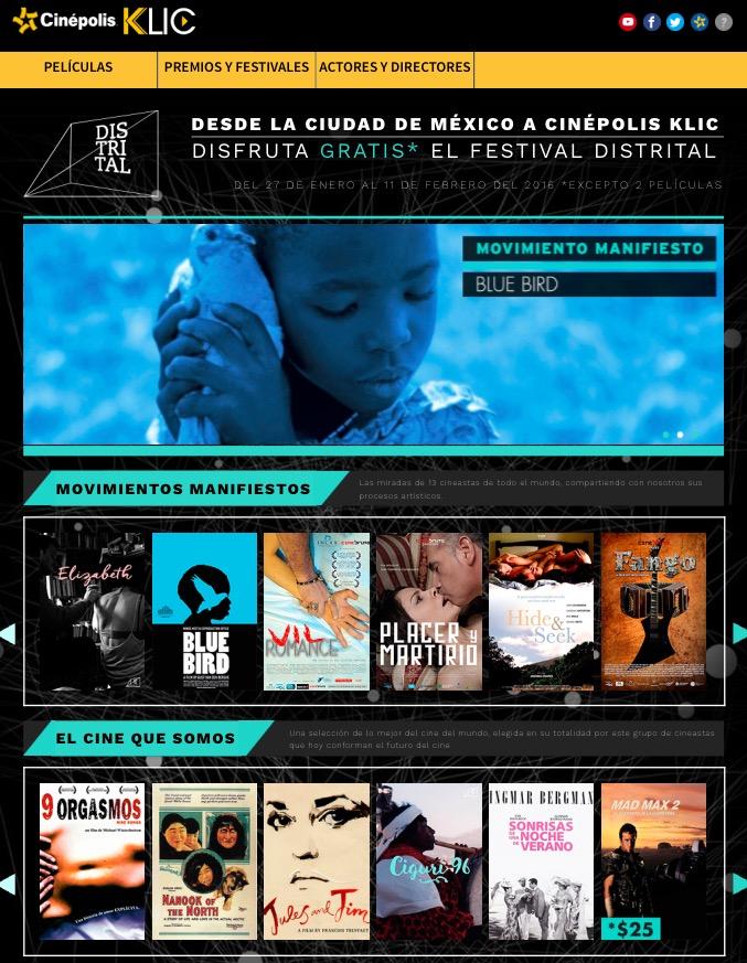 Cinépolis Klic: películas GRATIS por festival distrital