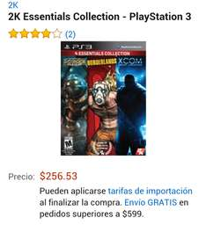 Amazon: 2k essentials collections para PS3