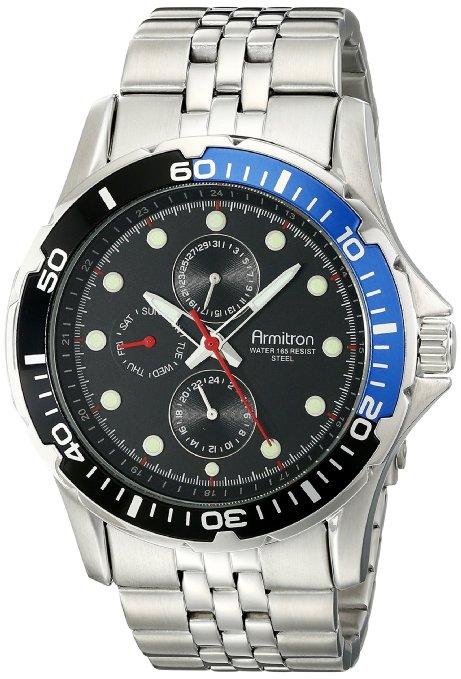 Armitron: reloj Men's 20/5040BLSV Stainless Steel Bracelet Watch with Two-Tone Bezel